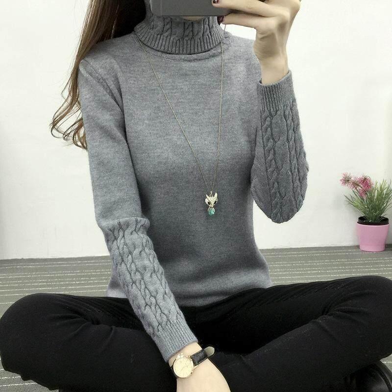 เสื้อกันหนาว เนื้อผ้าหนา แขนยาว ปกเสื้อหุ้มคอ By Future Fashion.