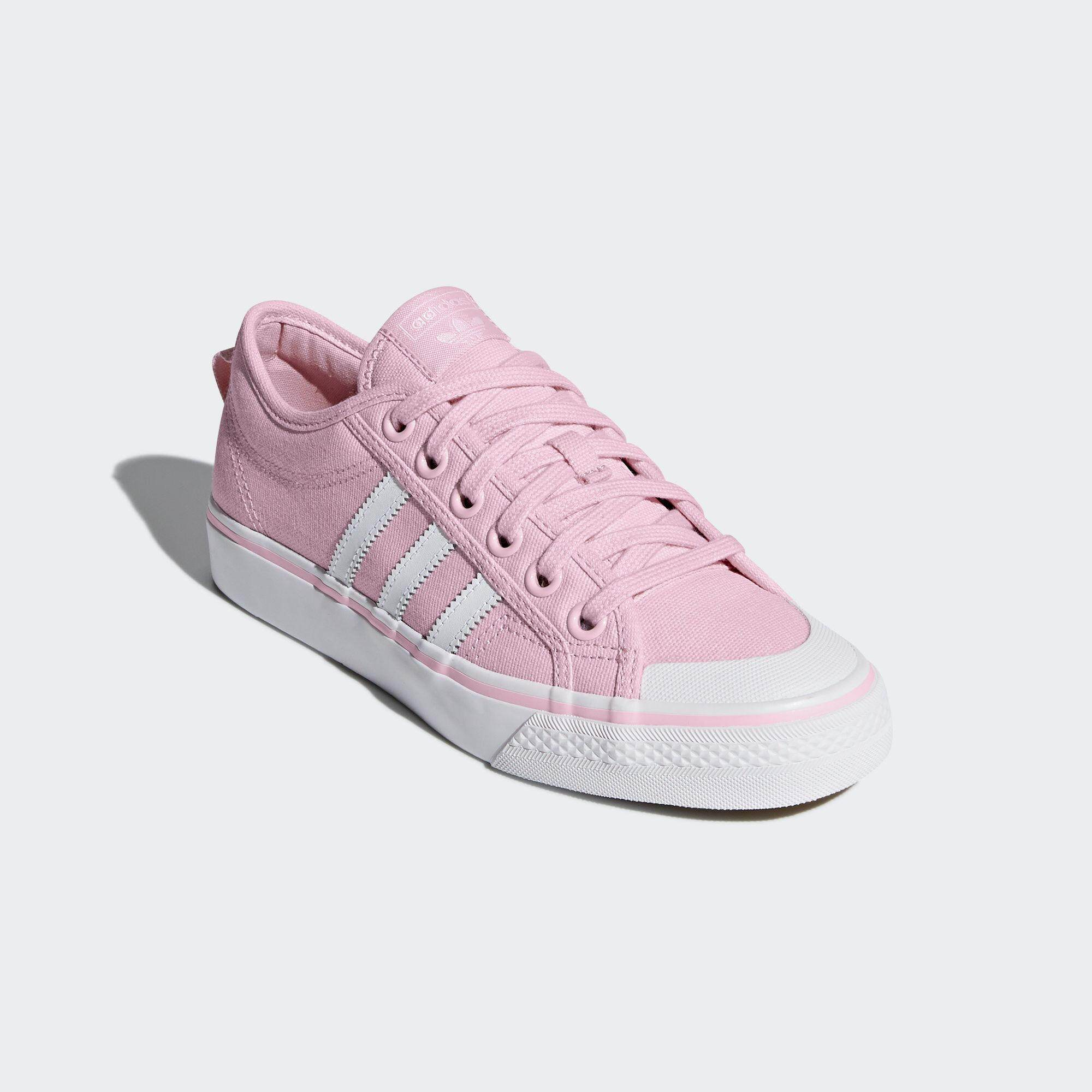 เก็บเงินปลายทางได้ รองเท้าผ้าใบอดิดาส Adidas รองเท้ากีฬา ผู้หญิง อาดิดาส Women Shoe Nizza Sakura Pink รุ่นฮอตสาว Tokyo นุ่มเบา ใส่สบาย ++ลิขสิทธิ์แท้จาก Adidas ส่งไวด้วย kerry++