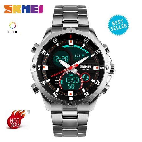 Skmei 1146 Mens Quartz Display Digital Watch Sports Outdoor Waterproof Watchsilver - Intl.
