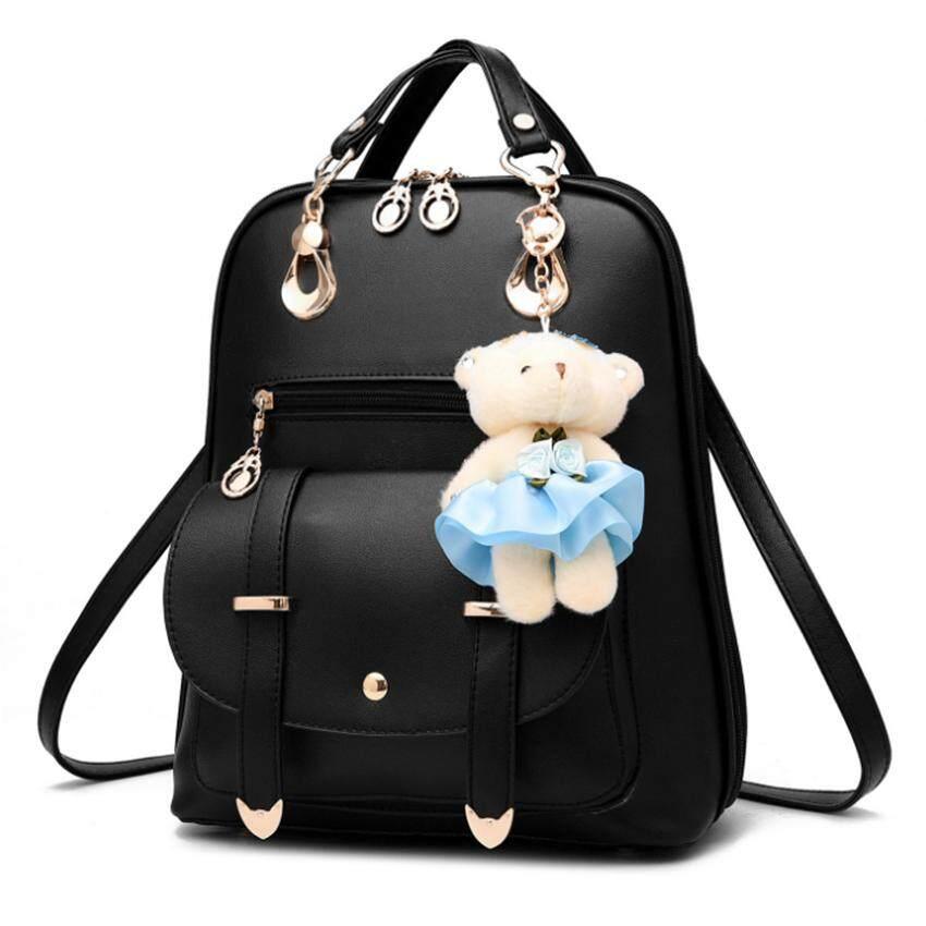 กระเป๋าเป้ นักเรียน ผู้หญิง วัยรุ่น ลพบุรี กระเป๋าเป้สะพายหลัง กระเป๋าเป้เกาหลี กระเป๋าสะพายหลังผู้หญิง backpack women รุ่น2261  สีดำ