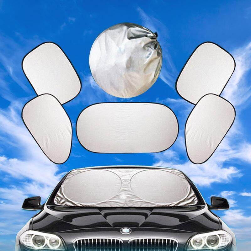 ม่านรถยนต์ ม่านบังแดดกระจก (กันรังสี Uv 98%) 4 ด้านเต็มคัน - จำนวน 6 ชิ้น By My Race Auto Care.