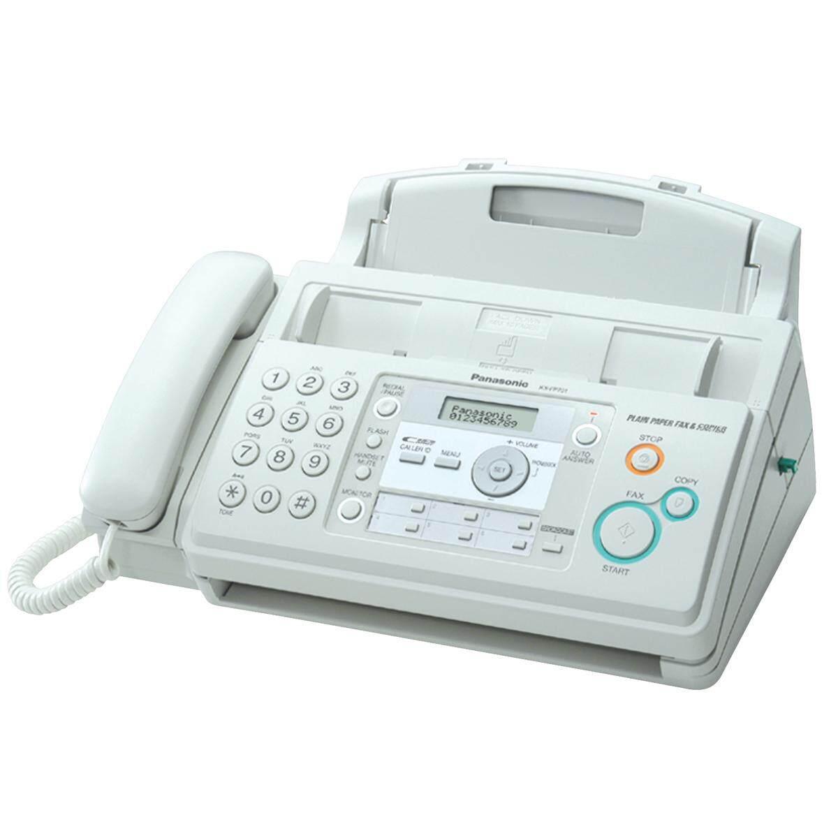 เครื่องโทรสาร กระดาษธรรมดา ระบบฟิล์ม ยี่ห้อ Panasonic รุ่น Kx-Fp701cx.