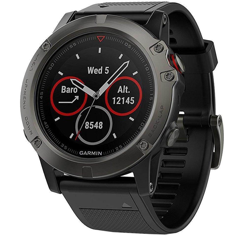 เพชรบุรี Garmin Fenix 5X Sapphire Edition Multi-Sport Training GPS Watch - [Slate Gray with Black Band]