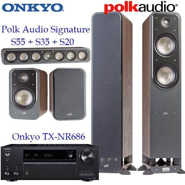 ยี่ห้อนี้ดีไหม  สระแก้ว Onkyo TX-NR686 + Polk Audio Signature S55 S20 S35