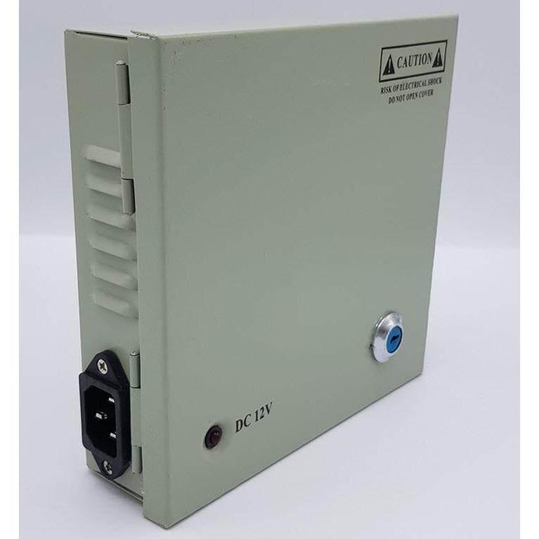 ตู้จ่ายไฟ DC12V 5A 60W Switching Power Supply สำหรับกล้องวงจรปิด 4 ตัว