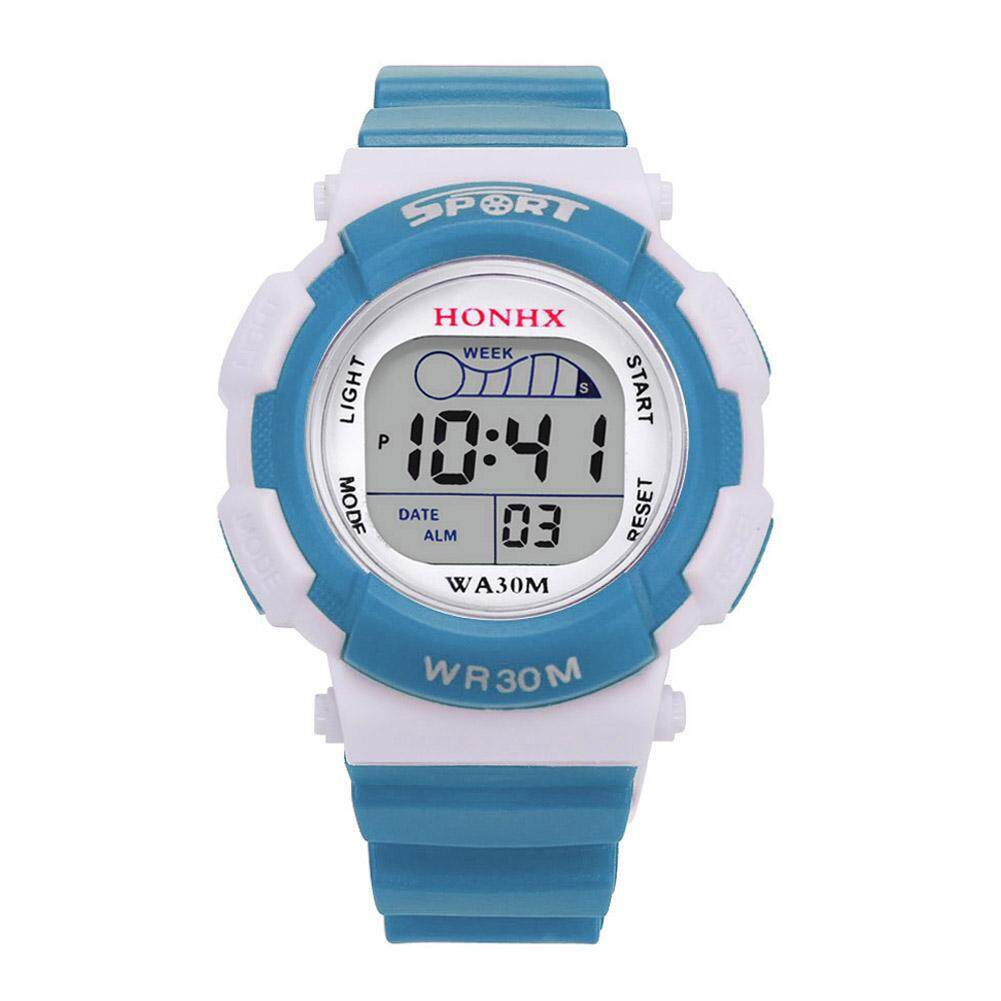 Boy เด็กเล็กเด็กเด็กหญิง Led ดิจิตอลกีฬาโรงเรียนสัญญาณกันขโมยแบบกันน้ำนาฬิกาข้อมือ By Chiclife.