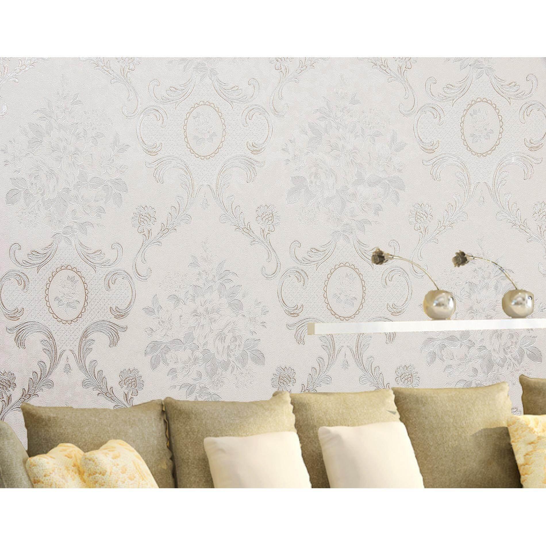 ราคา Homily Wallpaper Lxr รุ่น Fr 790401 โทนสีขาวขุ่น ลายดอกไม้ Ailida เป็นต้นฉบับ