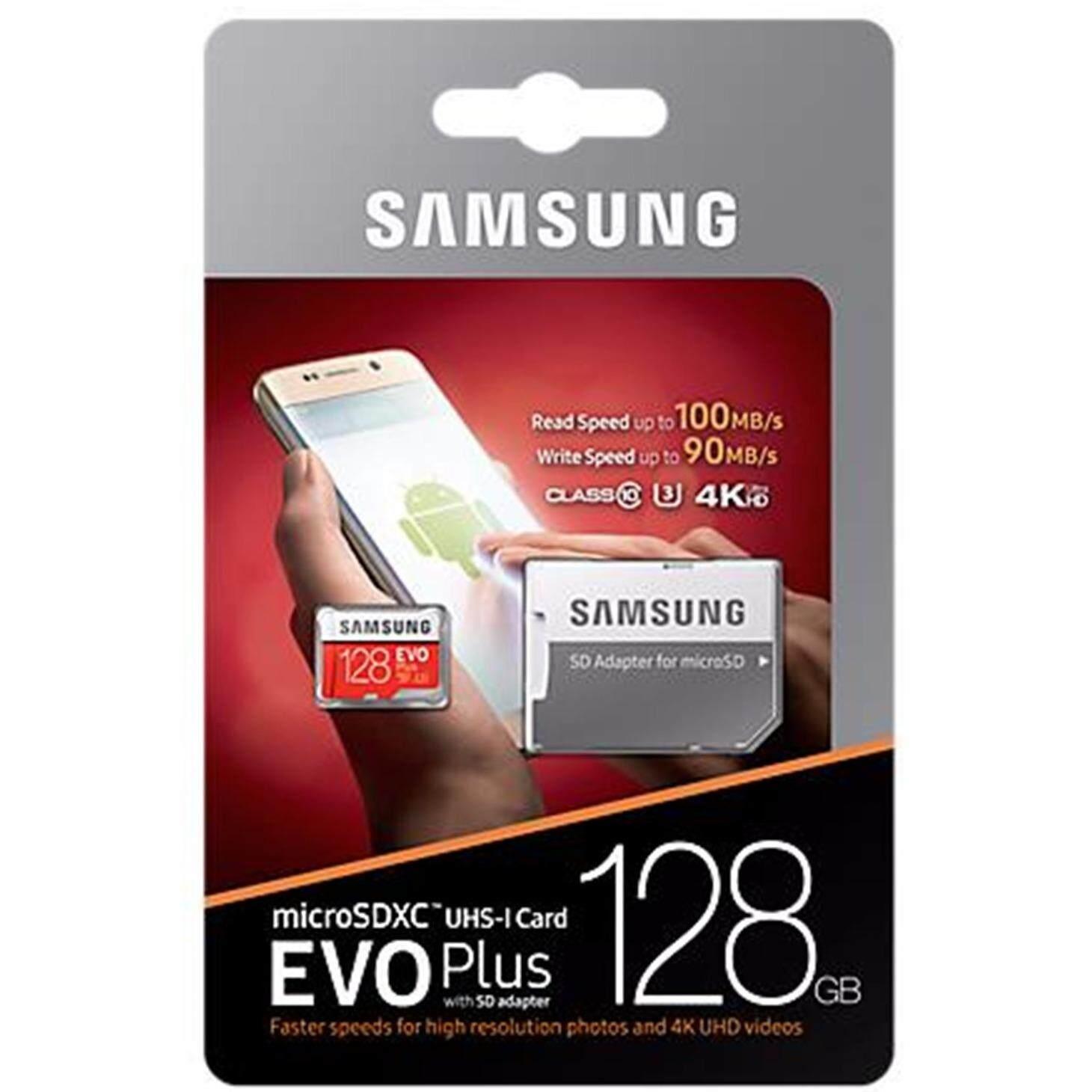 ซื้อ Samsung Memory Card Evo Plus Micro Sdhc 128 Gb Class 10 เมมโมรี่การ์ด Sd Card ใหม่