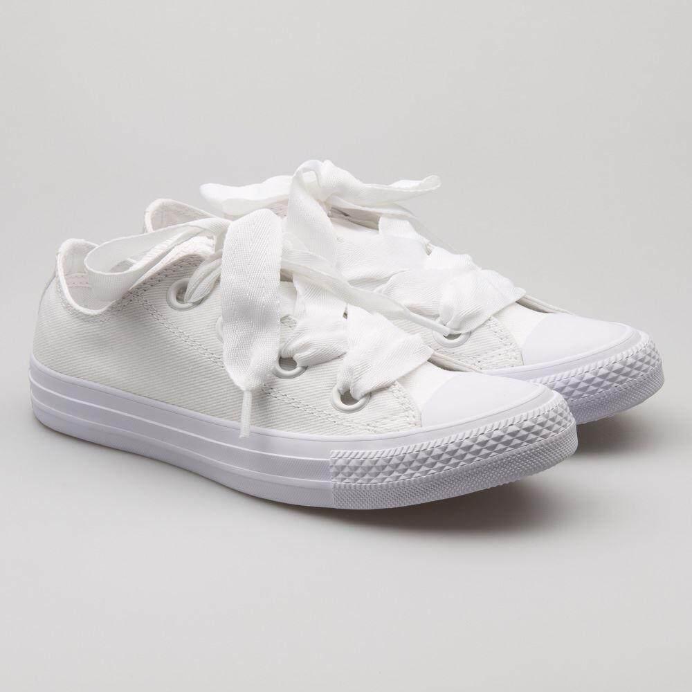 ยี่ห้อนี้ดีไหม  นครศรีธรรมราช [ลิขสิทธิ์แท้] Converse All Star BIG EYELETS [W] สีขาว รองเท้าผ้าใบ ผู้หญิง