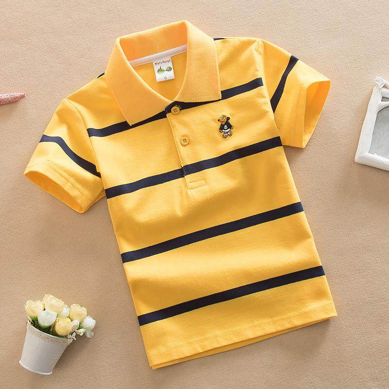 005 ชุดเด็กน่ารัก เสื้อผ้าเด็ก เสื้อผ้าเด็กผู้ชาย เสื้อผ้าเด็กผู้หญิง แฟชั่นชุดเด็ก เสื้อโปโลเด็ก ลายทาง.