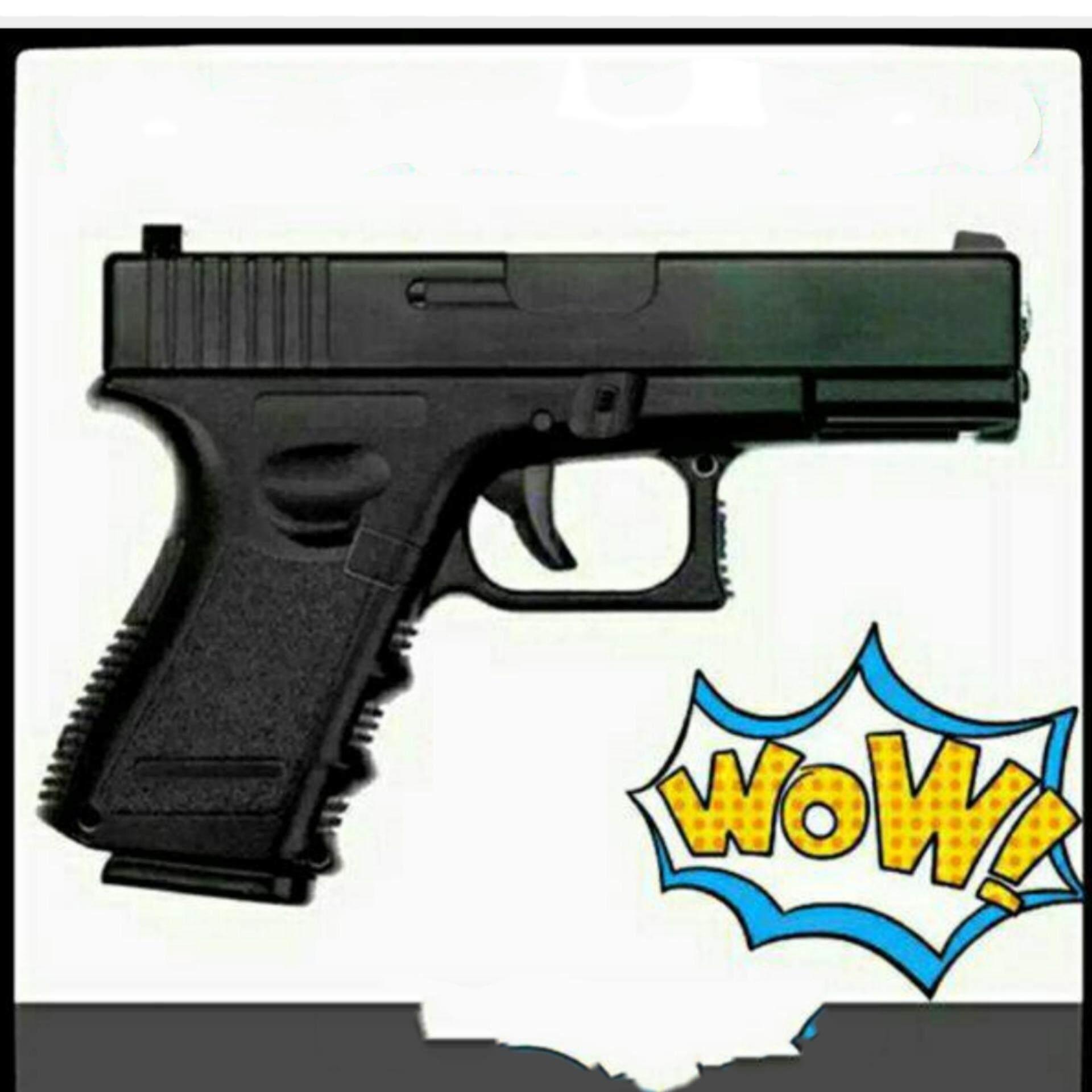 ปืนอัดลมยาว Glock G-17 ชักยิงทีละนัด บอดี้พลาสติก Abs สวย เนียน คล้ายของจริง.