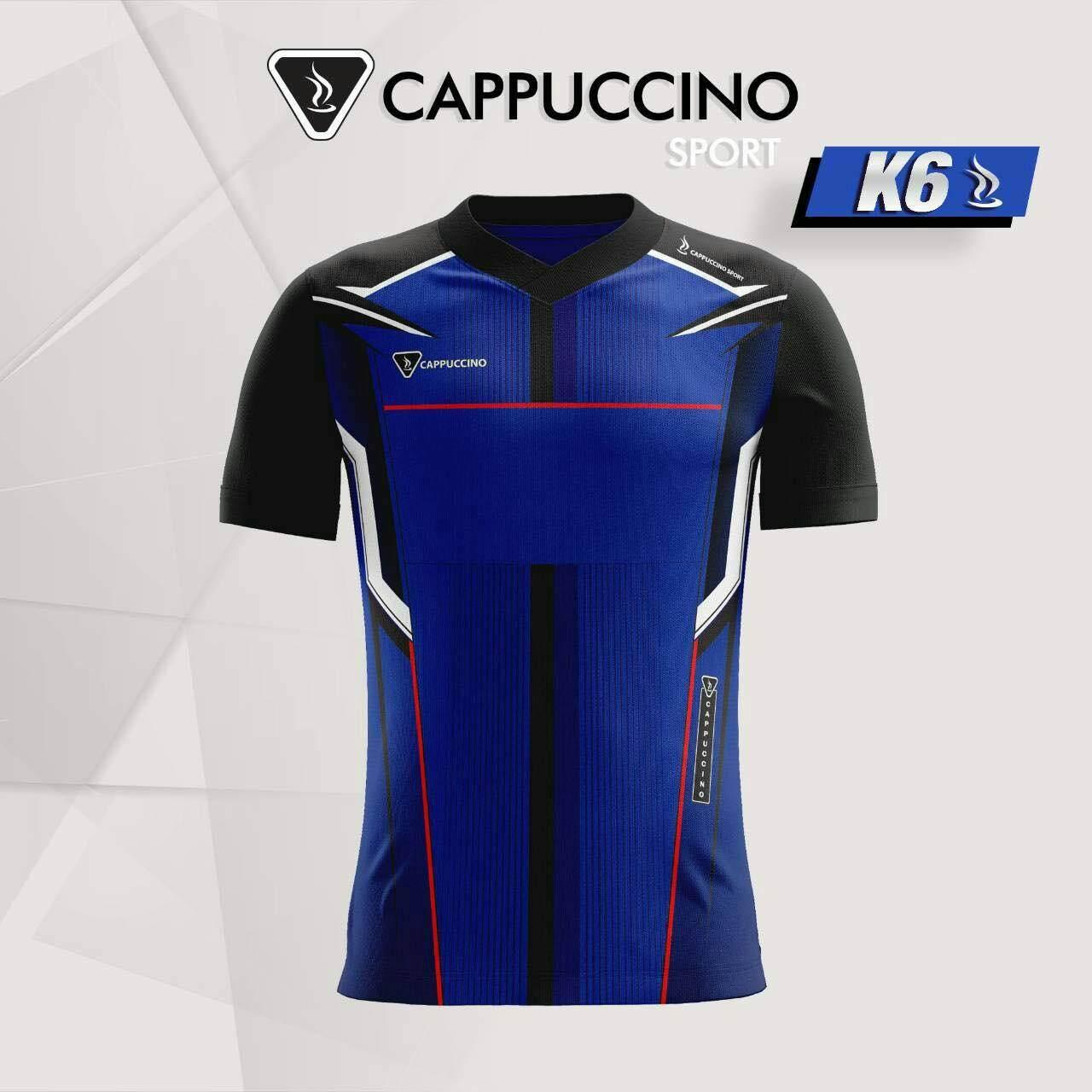 เสื้อกีฬา ยี่ห้อ Cappuccino Sport K6 (พร้อมสกรีนฟรี ชื่อทีมเบอร์ 10 ตัวขึนไป) By Narinjidee.