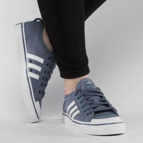 เก็บเงินปลายทางได้ รองเท้าผ้าใบ Adidas รองเท้ากีฬา แฟชั่น ผู้หญิง อาดิดาส Women Shoe Nizza Metro Jean รุ่นฮอตสาว Tokyo นุ่มเบา สบายเท้า ++ลิขสิทธิ์แท้จาก Adidas ส่งไวด้วย kerry++