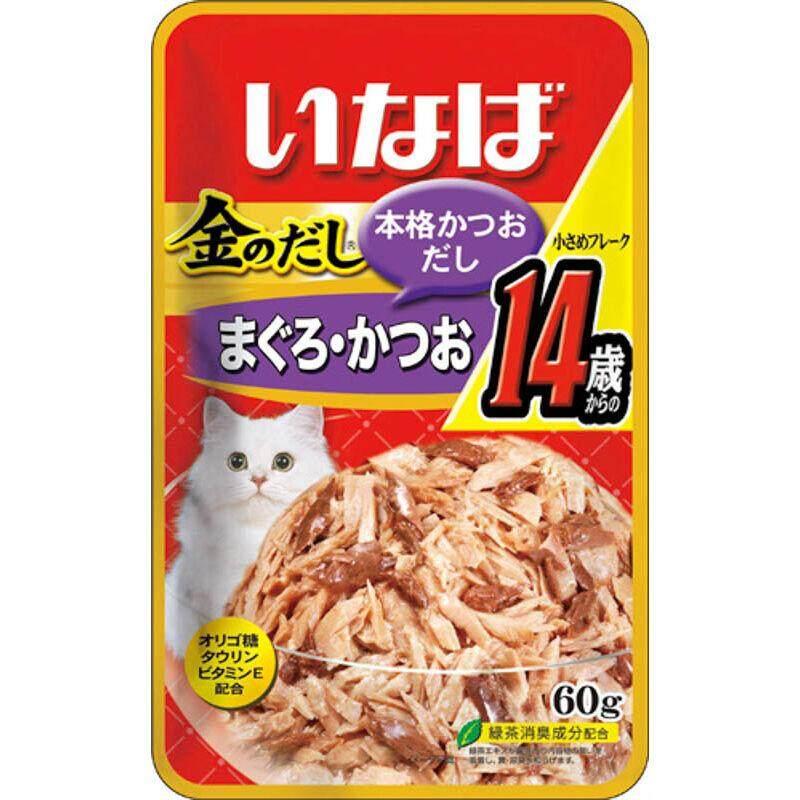 Inaba เพ้าซ์ อาหารแมวชนิดเปียก - ทูน่าเนื้อขาว+แดงชนิดชิ้นย่อยในเยลลี่ 60g (ic-24) By Raybeck.