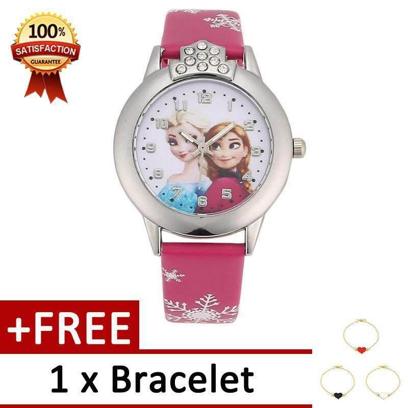 การ์ตูนนาฬิกาข้อมือเด็กแฟชั่นนาฬิกาข้อมือควอตซ์นักเรียนขนาดเล็ก Dial [ซื้อ 1 แถม 1 สร้อยข้อมือ] By Sweetlife.