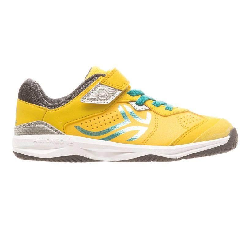 รองเท้าเทนนิสสำหรับเด็กรุ่น Ts160 (สีเหลือง).