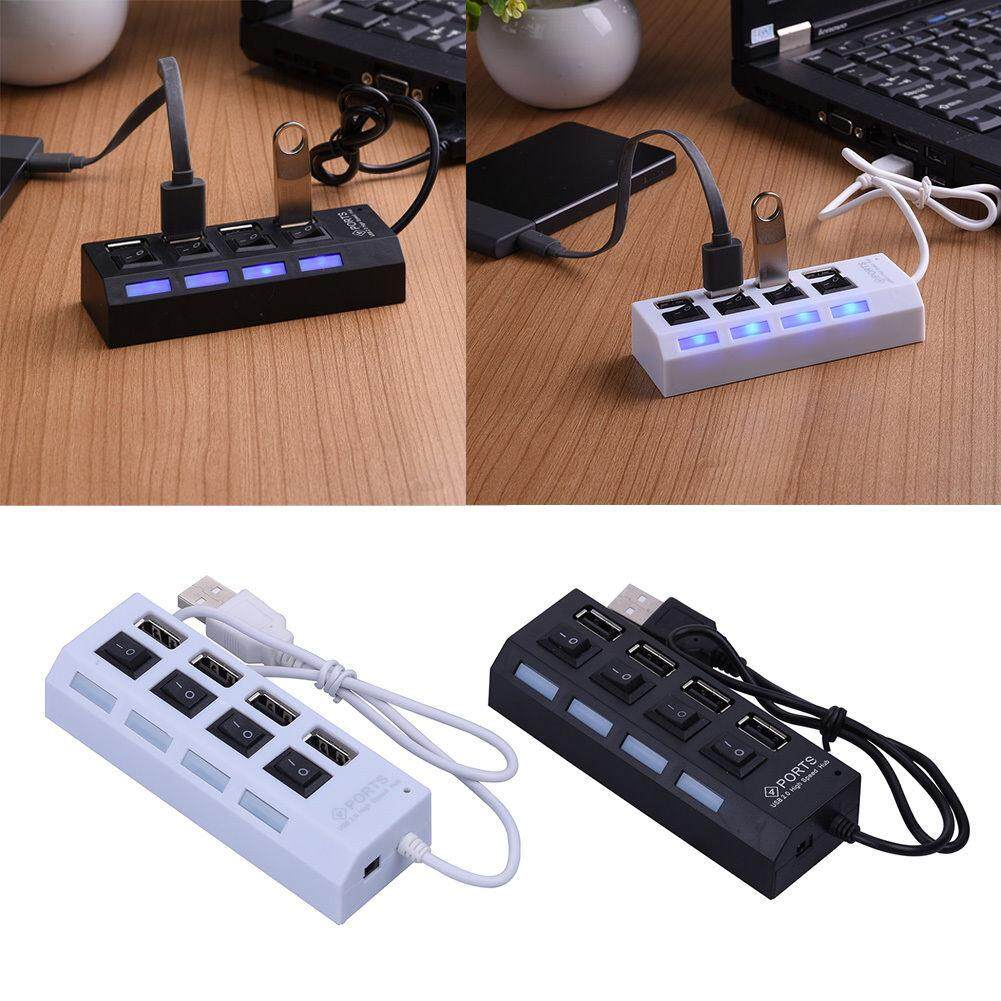 Usb Hub 4 Port Power On/off Switch Led By New Store.