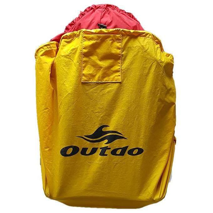 ผ้าคลุมเป้ผ้าไนลอน 19x20 นิ้ว กันฝน มีสายรัดปรับความแน่นและมีเวลโครด้านในเพิ่มความแน่นติดกระเป๋า มียางยืดง่ายต่อการใส่ By Outdo.