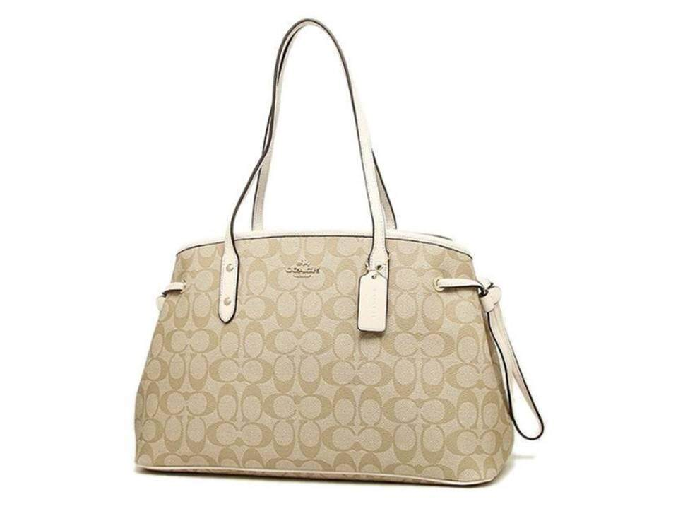 d3e83ee79 THB 16.900 กระเป๋า COACH DRAWSTRING CARRYALL IN SIGNATURE COATED CANVAS  57842 WHITE ...