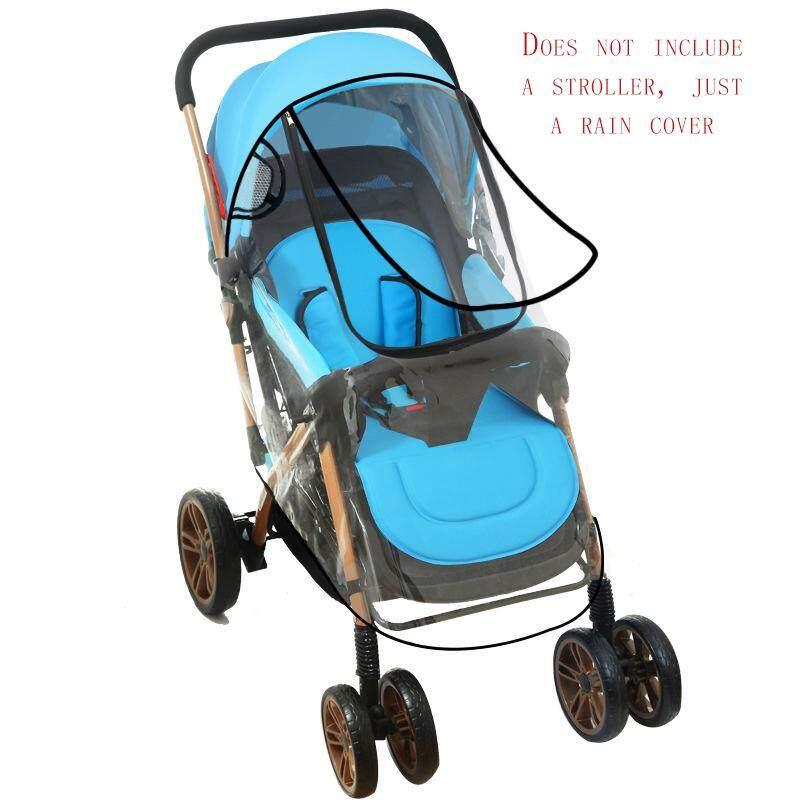 รถเข็นเด็กทารกโล่ลมฝนหมอกควันรถเข็นฝนรถเข็นเด็กร่มเสื้อกันฝนกระโปรงอุปกรณ์เสริมเกรดอาหารสากล (does Not Include A Stroller, Just A Rain Cover)- นานาชาติ.