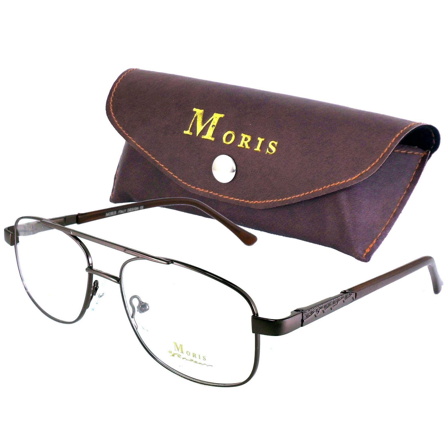 Moris แว่นตา รุ่น 2905 กรอบแว่นตา ( สำหรับตัดเลนส์ ) ทรงสปอร์ต วัสดุ สแตนเลสสตีล หรือเหล็กกล้าไร้สนิม Stainless Steel ขาสปริง กรอบแว่นตา Eyeweartop Glasses By Drone.