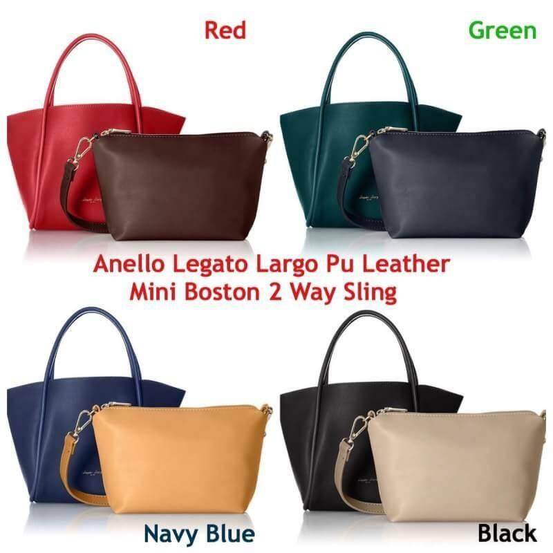 พัทลุง Anello Legato Largo Pu Leather Mini Boston 2 Way Sling