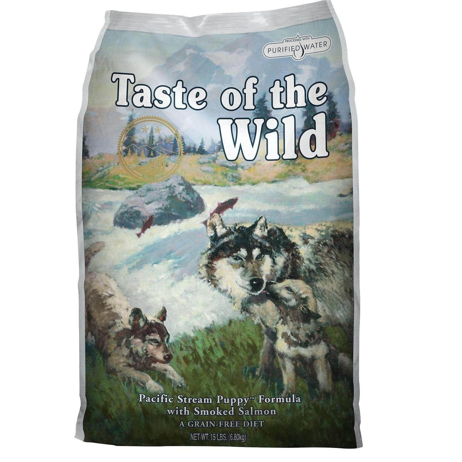 ทบทวน Taste Of The Wild Puppy Smoked Salmon อาหารลูกสุนัข ทำจากแซลมอน ขนาด 30Lb หรือ 13 6Kg Taste Of The Wild