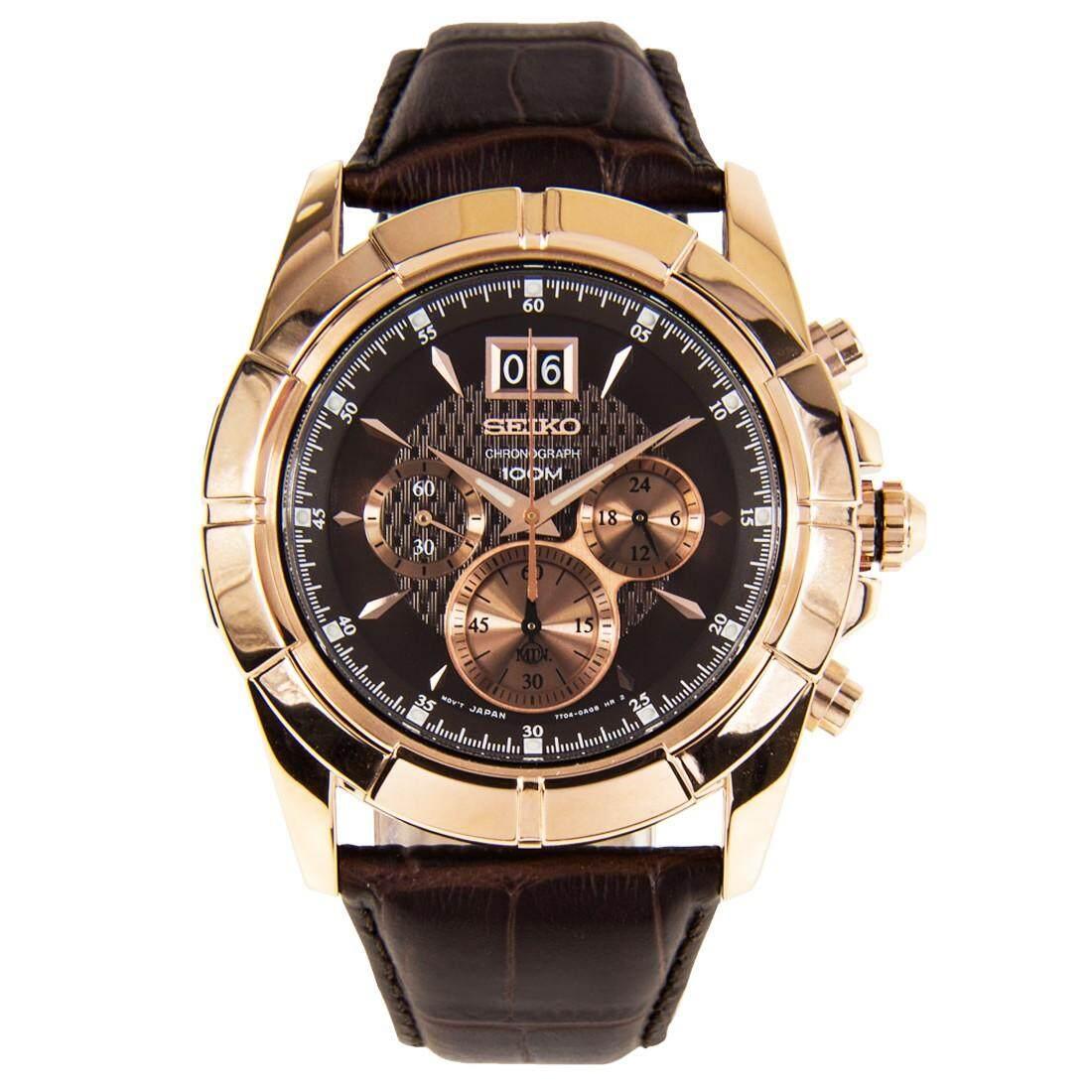 ยี่ห้อไหนดี  นครสวรรค์ Karnvera Shop SEIKO นาฬิกาข้อมือชาย  Chronograph Men s Watch SPC114P1