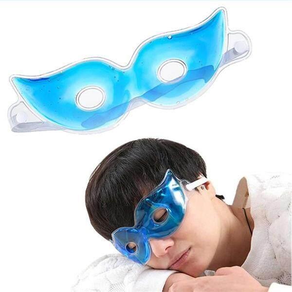 แผ่นเจลเย็นปิดตา Cooling Eye Gel สีฟ้า ลดการเมื่อยล้าของดวงตา ลดอาการใต้ตาดำ ตาบวมช้ำ ประคบตาหลังศัลยกรรมตาสองชั้น (มีรู).