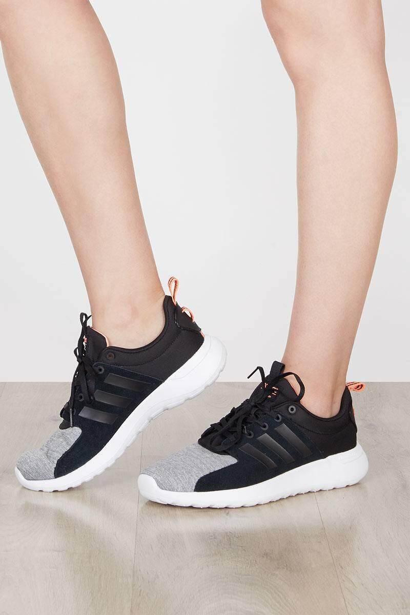 ลดสุดๆ Adidas รองเท้า ออกกำลังกาย ผู้หญิง อาดิดาส Lite Racer Black Grey น้ำหนักเบามาก สวมใส่สบาย พื้นรองรับแรงกระแทกดีมาก ของแท้100% ส่งไวด้วย kerry!!!