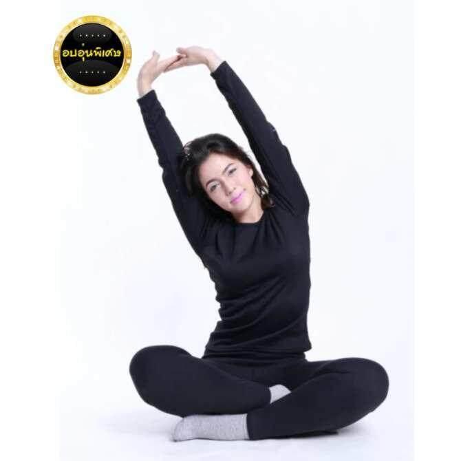 ขาย ซื้อ ลองจอน ชุดลองจอน กันหนาว Heattech ผู้หญิง สีดำ รุ่นอบอุ่นพิเศษ ทนได้ 15 องศา มี 5 ไซด์ให้เลือกซื้อ M L Xl 2Xl 3Xl ใน กรุงเทพมหานคร