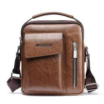 การตรวจสอบของ  Best Selling  Messenger Bag Men s Leather Shoulder Bag Male  Travel Casual Small Flap Man Crossbody Bags for Men Handbags - INTL ซื้อ ... db0b047c64