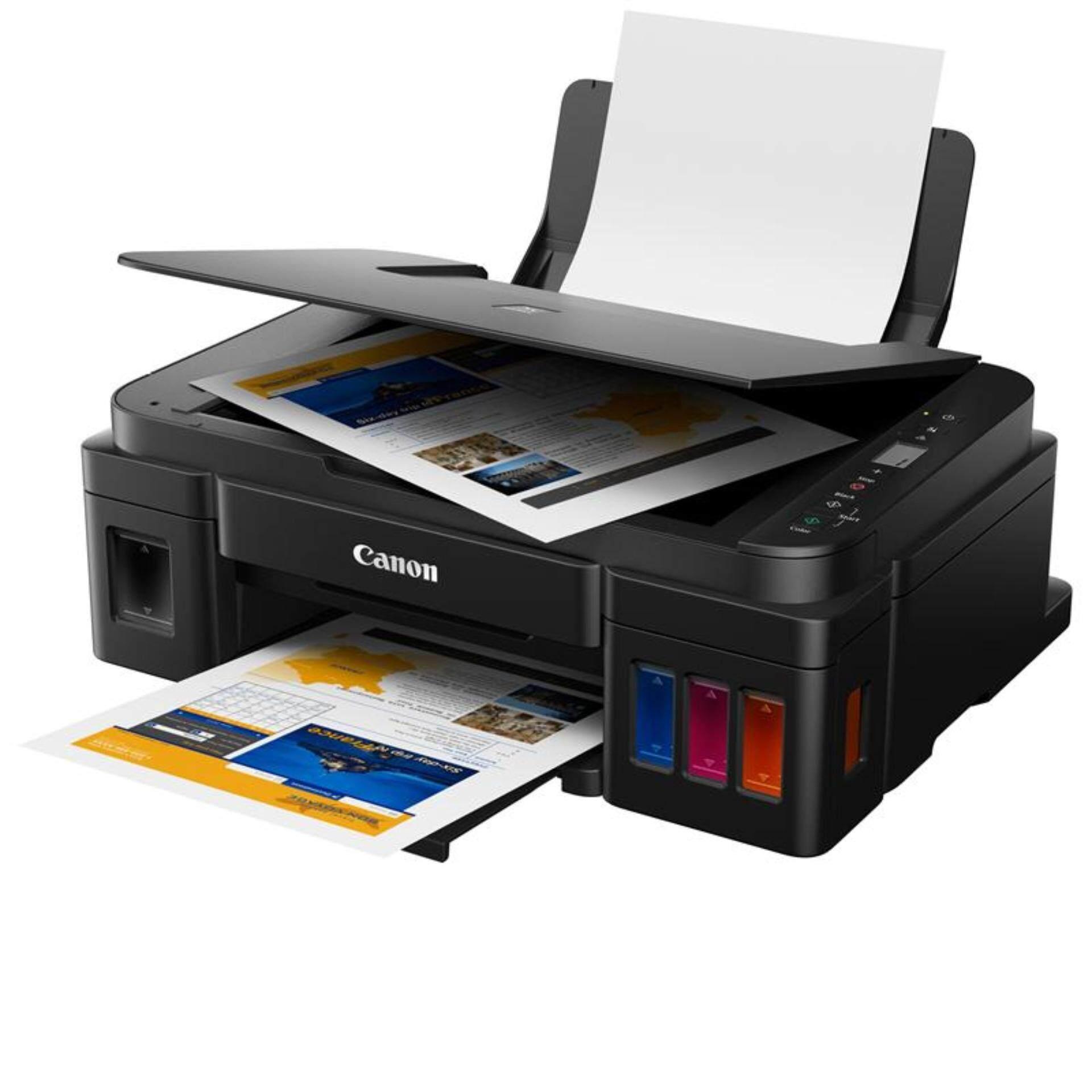 เครื่องปริ้น Canon Pixma G2010 Printer All In One Ink Tank (พร้อมหมึกแท้จากcanon สีละ1ขวด) By Lazada Retail General Merchandise.