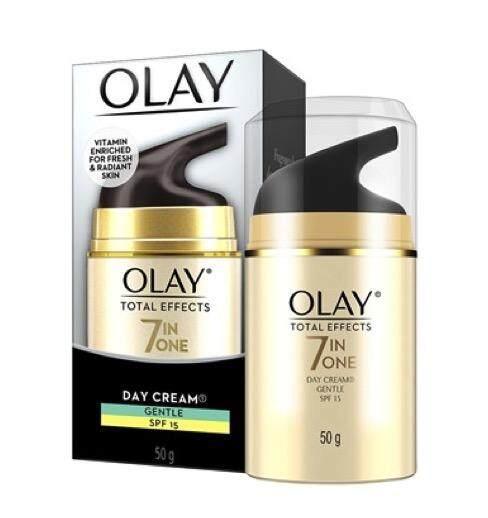 Olay Total Effect 7in1 Day Cream Gentle Spf15 โอเลย์ โททัล เอฟเฟ็คส์ 7in1 เดย์ครีม สูตรอ่อนโยน 50ml..
