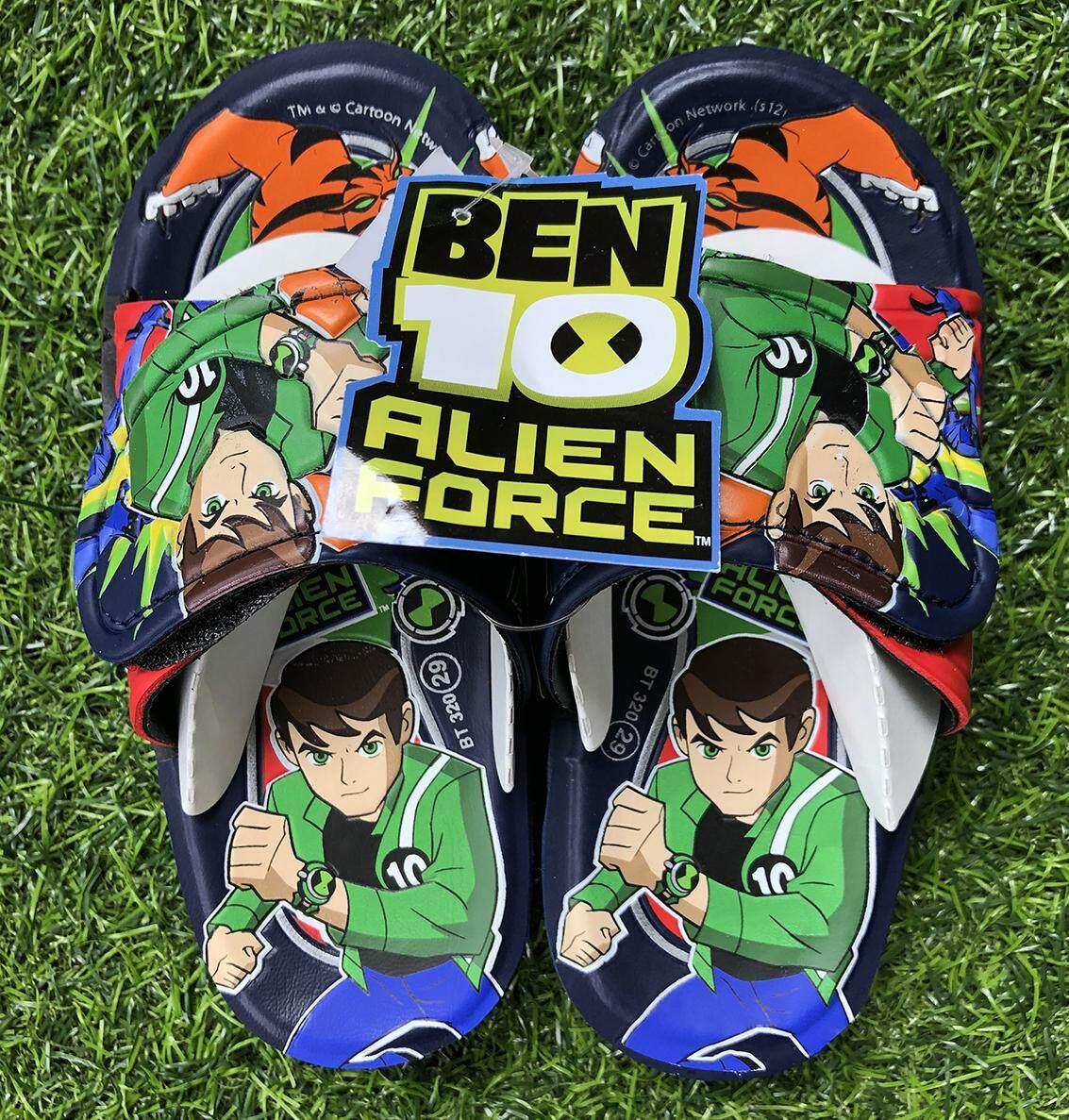 รองเท้าแตะแบบสวมลาย Ben10 ลิขสิทธิ์แท้.