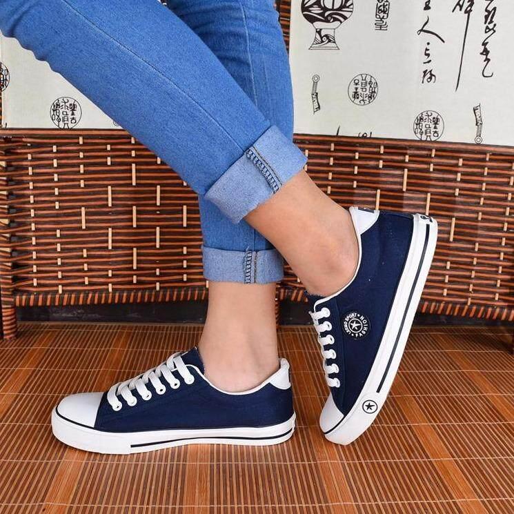 ราคา รองเท้าผ้าใบผู้หญิง 9108 สีกรม Leemo ออนไลน์