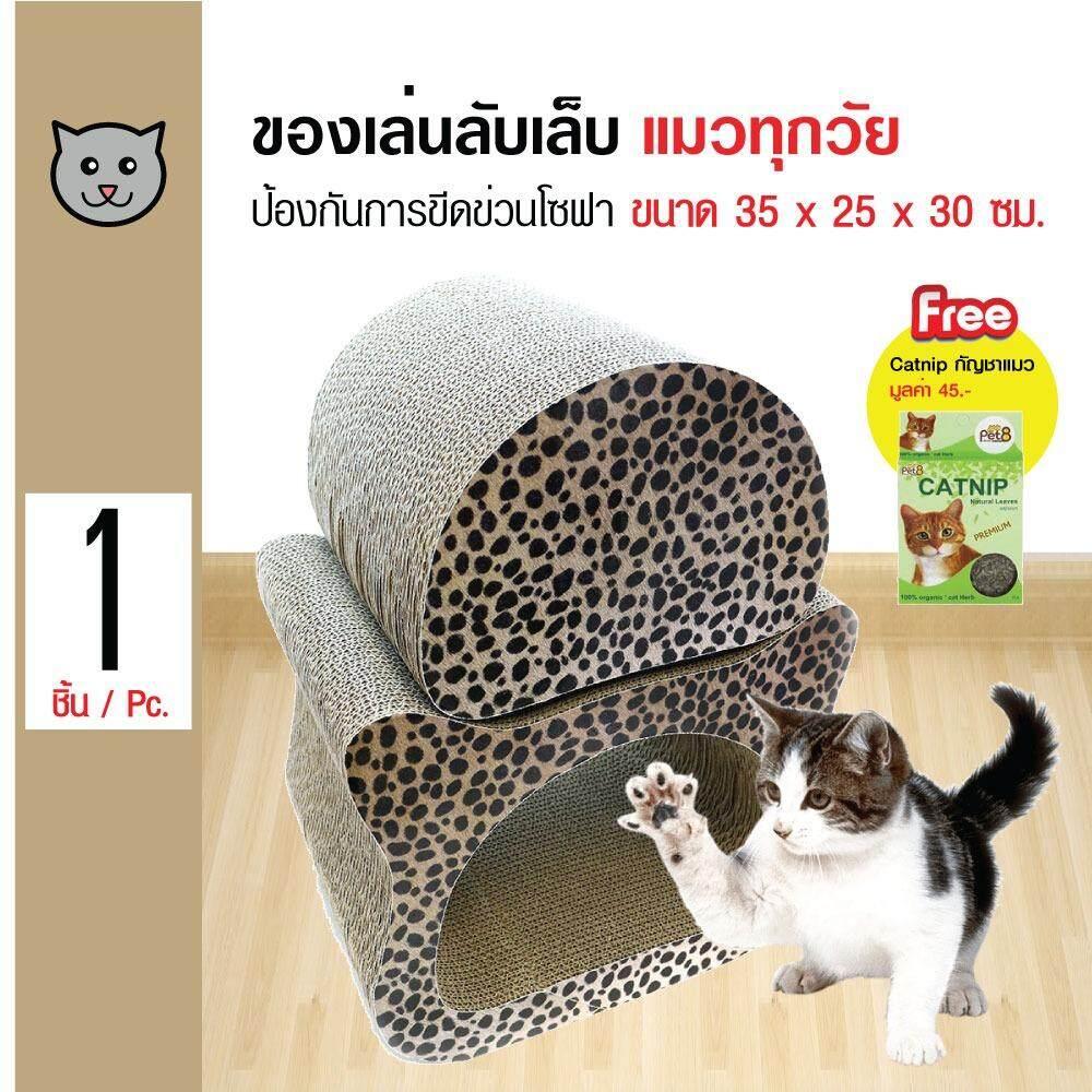 ทบทวน ที่สุด Pet8 ของเล่นแมว ที่ข่วนลับเล็บแมวกระดาษ รุ่นหัวแมวแยกชิ้นได้ สำหรับแมวทุกวัย ขนาด 35X25X30 ซม ฟรี Catnip กัญชาแมว