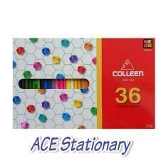 Colleen ดินสอสีไม้ คอลลีน หัวเดียว 36 สี 36 เเท่ง รุ่น775