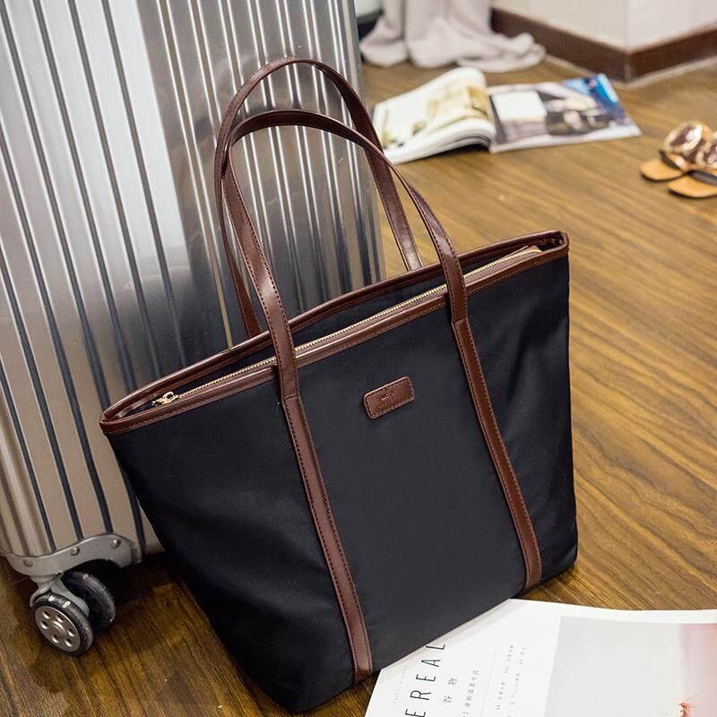 กระเป๋าถือ นักเรียน ผู้หญิง วัยรุ่น กาญจนบุรี Soar 2019 ใหม่กระเป๋าสะพายหญิงผ้าอ๊อกซ์ฟอร์ดไนลอนนักเรียนผู้หญิงกระเป๋าแบบทั่วไปกระเป๋าถือ Tote Bag กระเป๋าสะพายใบใหญ่