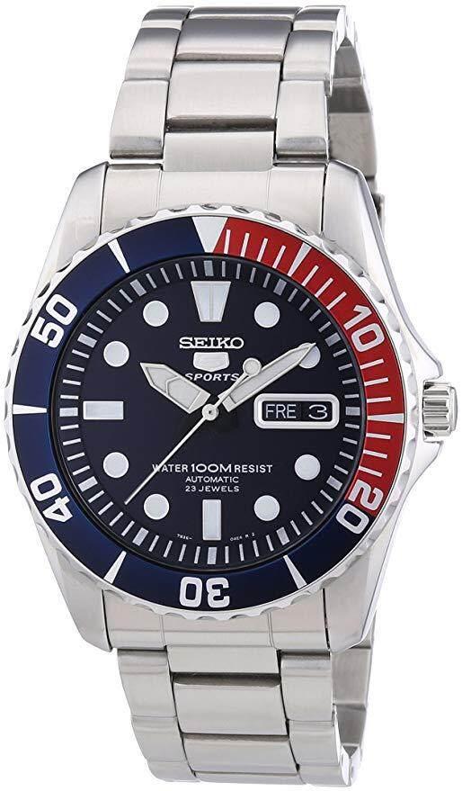 สอนใช้งาน  ปราจีนบุรี นาฬิกาผู้ชาย SEIKO Submariner Pepsi Automatic รุ่น SNZF15K1 Men Watch แท้ ศูนย์