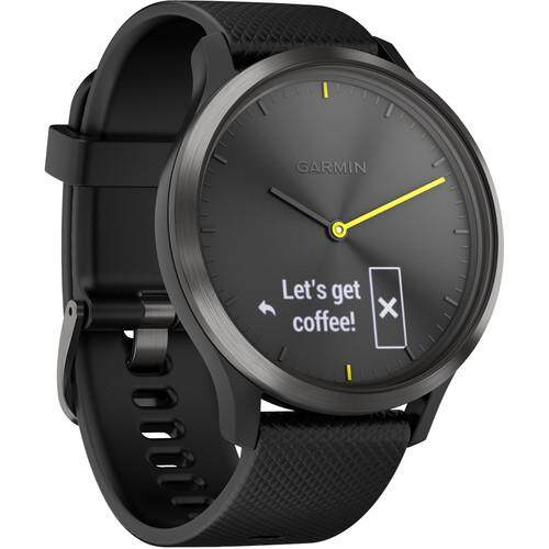 สงขลา Garmin Vivomove HR Sport Watch - [Black with Black Silicone Band  Large]