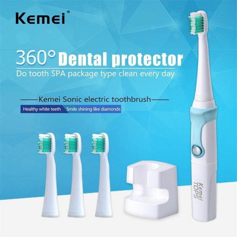 แปรงสีฟันไฟฟ้าเพื่อรอยยิ้มขาวสดใส นครสวรรค์ Sell Goods Kemei TOPS แปรงสีฟันไฟฟ้าอุลตร้าโซนิค รุ่น KM 907
