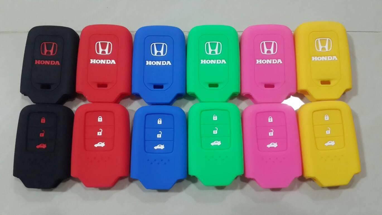 สุดยอดสินค้า!! ซิลิโคนแบบหนา Honda City / jazz  / Accord G9 / CR-V Gen 5 (Smart Key) ส่งฟรี Kerry เก็บเงินปลายทางได้ * ทักแชทเพื่อเลือกสีก่อนสั่งซื้อ*
