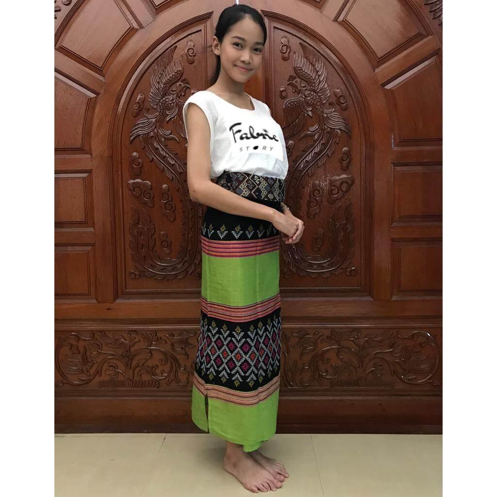 ซื้อ ผ้าถุง ผ้าฝ้ายแท้ลายไทย เขียวอ่อน ถูก