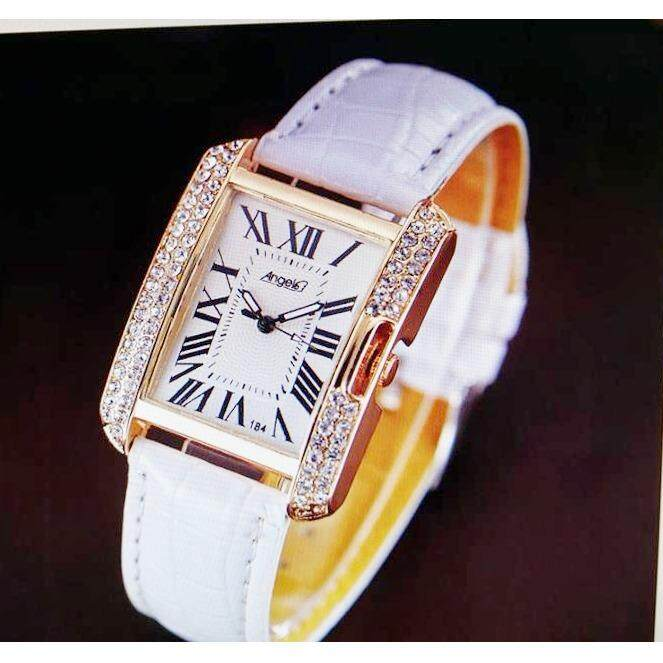 นาฬิกาแฟชั่นสไตล์เกาหลี สำหรับผู้หญิง Quartz สายหนังสวยหรูหรา บอกเวลาได้แม่นยำ แบรนด์เนมนาฬิกา