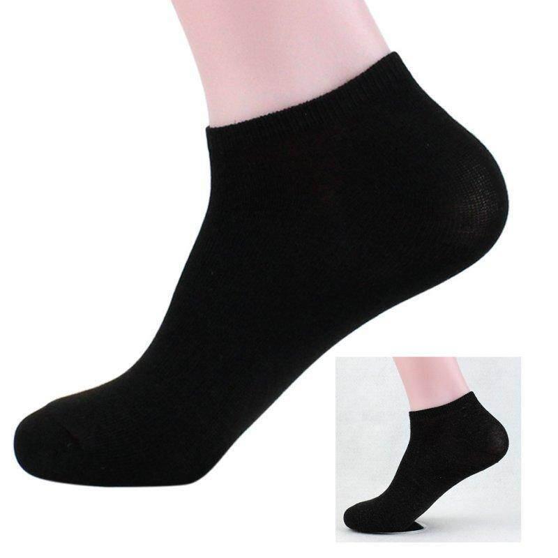 ถุงเท้าสีดำข้อสั้น แพ็ค 12คู่ By Giftshop By Pingping.
