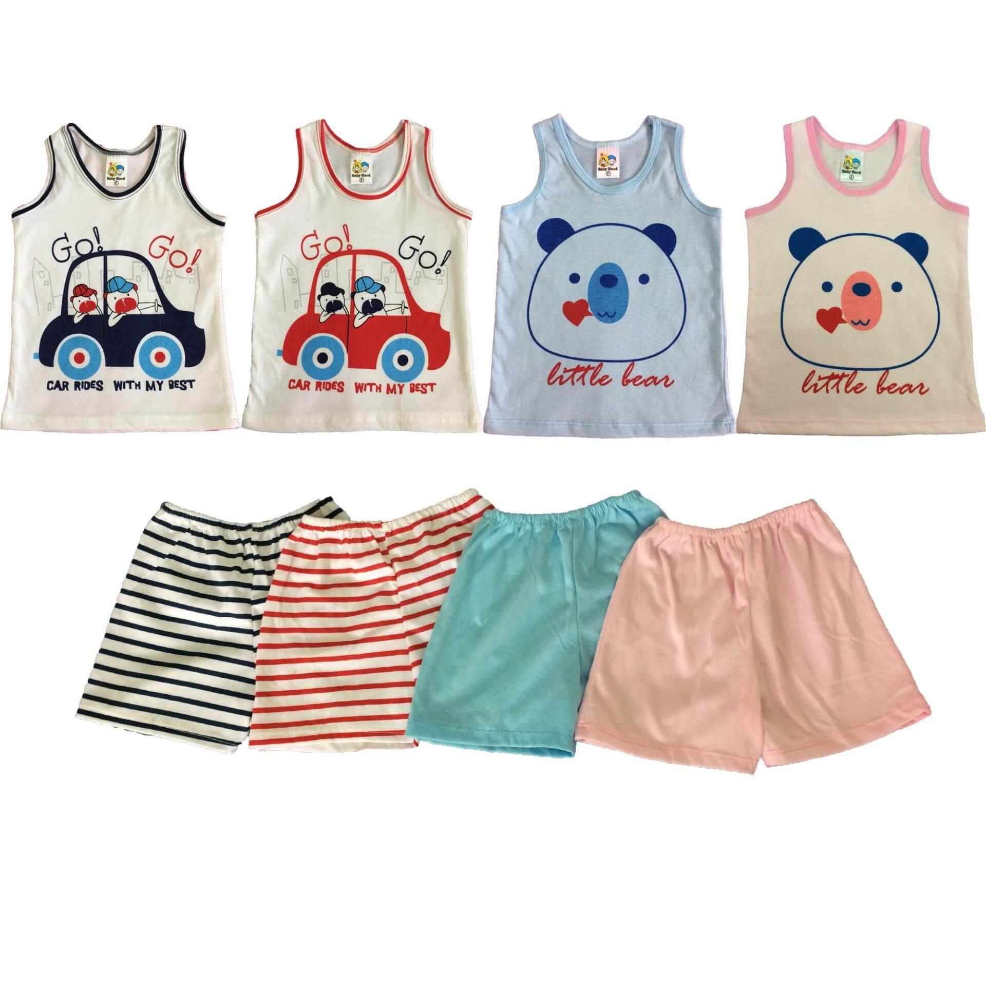 โปรโมชั่น Kamphu ชุดเสื้อกล้าม เสื้อกล้ามเด็ก เสื้อเด็กอ่อน เด็กหญิง เด็กชาย แพ็ค 4 ชุด 6 เดือน