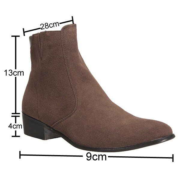 Mens Leather Sole Boots Cuban Heel Chelsea Ankle Zip Shoes Size
