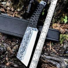 Genuine Scorpion มีดพก มีดเดินป่า มีดใบตาย 7Cr17Mov คมมีดโกน พร้อมซองไนลอนคาดเข็มขัด