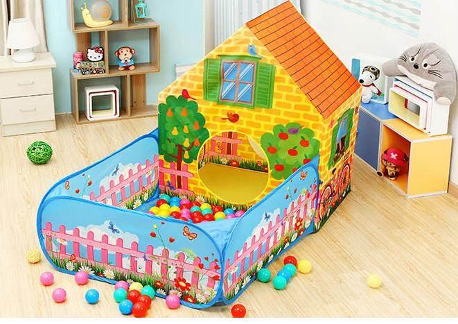 บ้านบอล Iplay พร้อมลูกบอล 50 ลูก ขนาดรวม 90 X 150 X 110 Cm By Ab Toys.